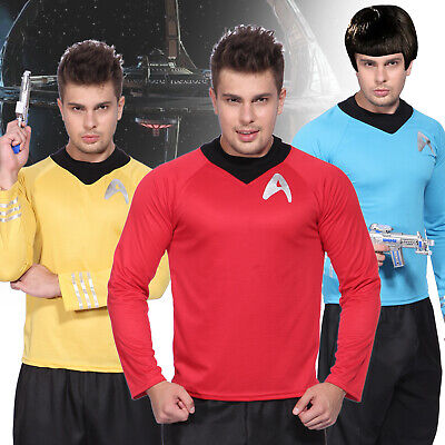 Star Trek Crew Uniform T-Shirt Männer Men Fasching Kostüm Halloween