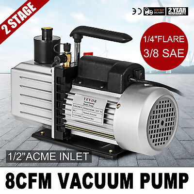 Vacumaster Economy Vacuum Pump - 2-stage 8 Cfm Rotary Vane 12acme Inlet