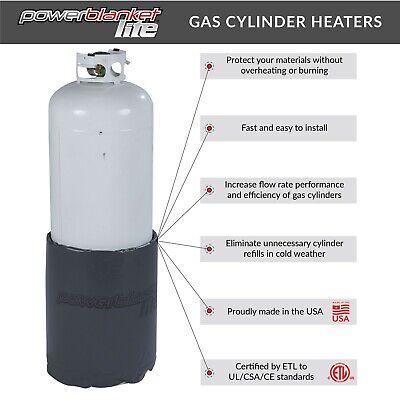 Propane Heaters - 100 Lb Gas Cylinder Heater - Powerblanket Lite Pbl100 - 100 Lb