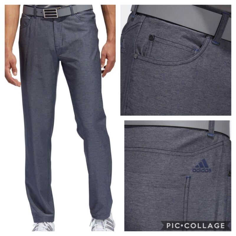 NEW! Adidas Ultimate365 Heather 5-Pocket Golf Pants- Navy- Multiple Sizes
