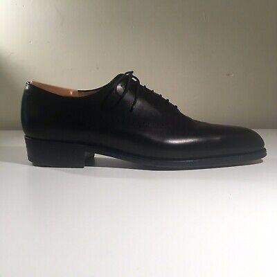 Stunning J.M. Weston Premium Black Leather Wholecut Oxford Men's Shoes UK 9 B