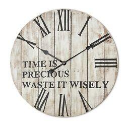 Large Rustic wall Clock - Farmhouse - 24 inch diameter  Roman numerals  oversize