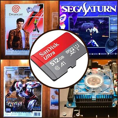 512 GB ODROID XU4, Ora v1.65  Retropie SD Card - Sega Saturn, PSP, N64, Naomi..