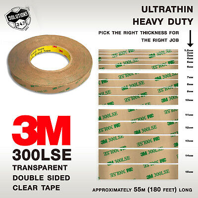 3M 300LSE 9495LE Double Sided Tape Clear Transparent 55M 180FT Phone Screen LCD ()