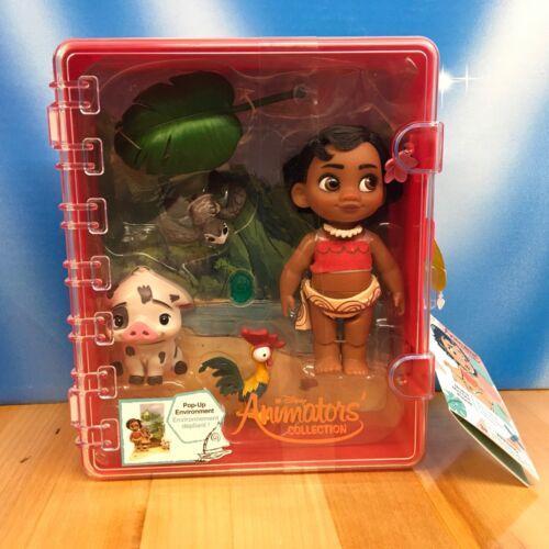 "Disney Store Animators' Collection Moana Mini 5"" Doll Play Set Pua Hei Hei NWT"