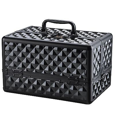 Password Lock Diamond Makeup Cosmetic Train Case Aluminum Box Artist Organizer on Rummage