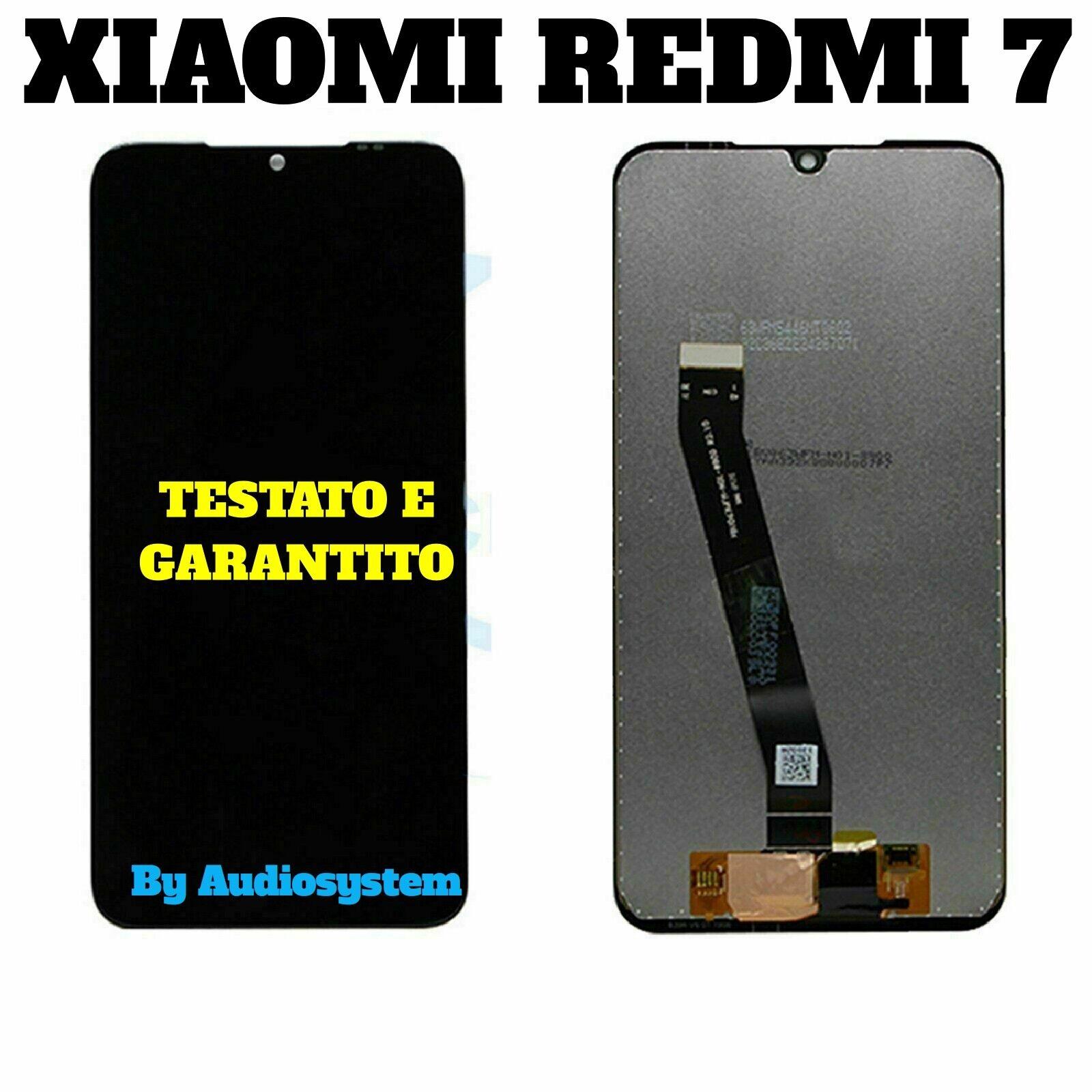 DISPLAY LCD+ TOUCH SCREEN XIAOMI per REDMI 7 NERO VETRO SCHERMO M1810F6LE Mi7