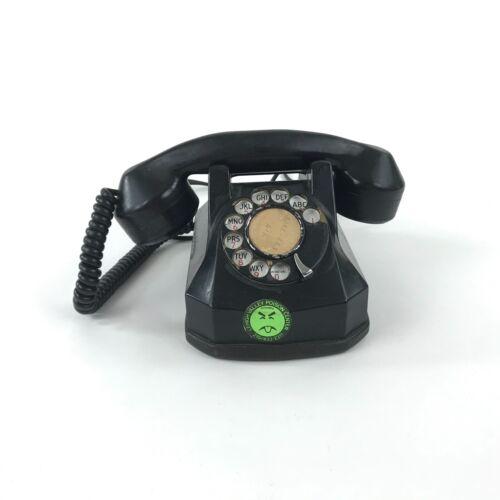 Vintage Automatic Electric Monophone Rotary Desk Phone Black Bakelite Art Deco
