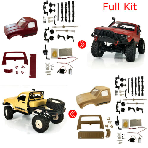 WPL C14 1:16 4wd RC Truck 2.4G Off-Road Semi-truck Electric Racing Car DIY Kit #