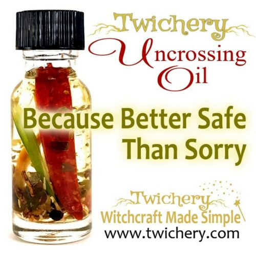 UNCROSSING OIL, Remove Hexes Negativity Hoodoo, Voodoo, Pagan, FROM TWICHERY