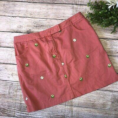 J Crew Womens 6 Embroidered Apple Skirt
