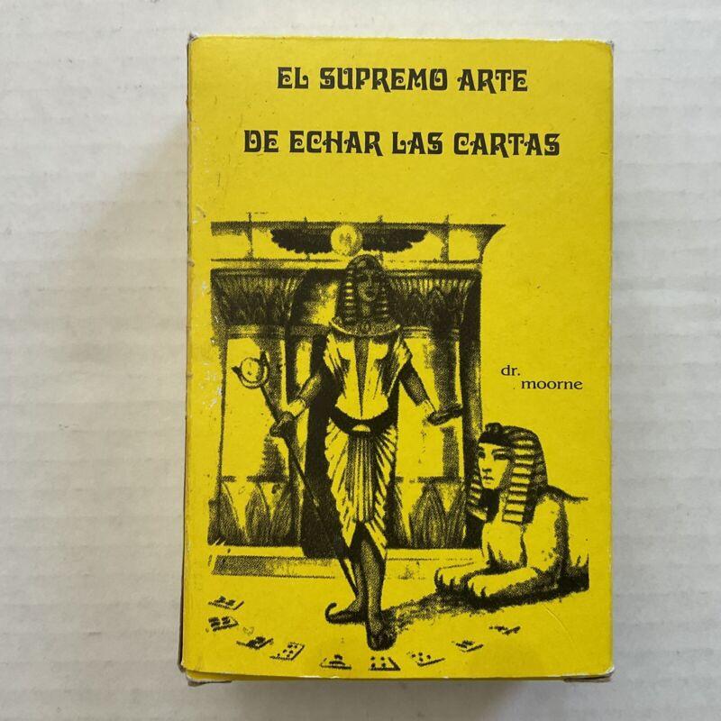 El Supremo Arte De Echar Las Cartas Dr. Moorne 78 Cards Tarots Egipcios Spanish