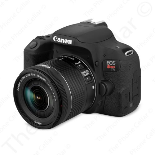 Canon EOS Rebel T7i DSLR Camera with EF-S 18-55mm IS STM Lens Black
