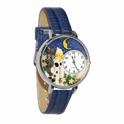 Whimsical Watches Unisex U0120009 Cats Night Out Royal Blue Leather Watch
