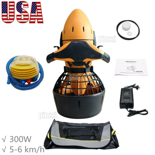 Diving Sea Scooter 300W Waterproof Pro Electric Dual Speed SafetyProp/6kmh USA