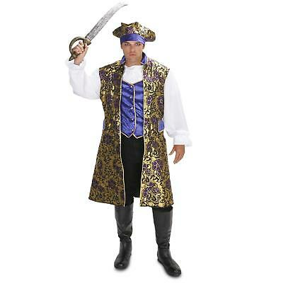 New Mens XL Royal Brocade Victorian PIRATE shirt vest jacket hat Costume