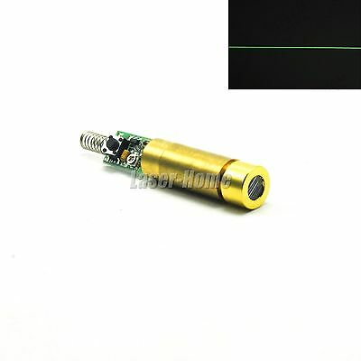 532nm 5mw-10mw Green 3.5-5v Laser Line Diode Module Brass Driver Spring Switch