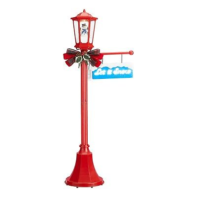 """Snow Blowing Snowman Light Up Lamp Post Indoor/Outdoor Christmas Decoration, 56"""""""