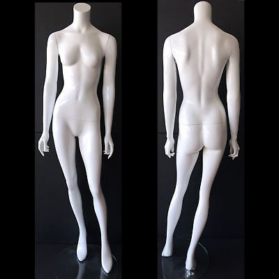 Female Mannequin High Quality Modern White Retail Full Size Headless W Stand