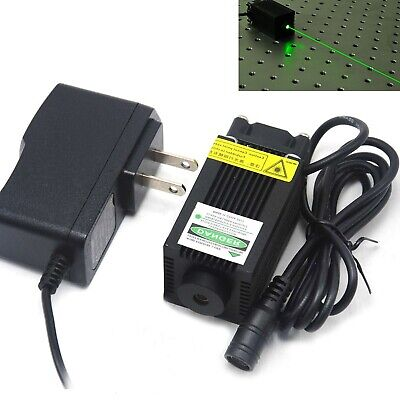 High Bright 532nm 100mw Green Focus Dot Laser Module 12v Adapter Remote Sight