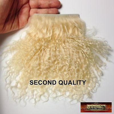 M00175 MOREZMORE Tibetan Lamb Fur ANGORA BLONDE Seconds Doll Hair Wig A60
