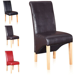 Vital scroll roll back faux leather oak effect legs for Furniture xo out of business