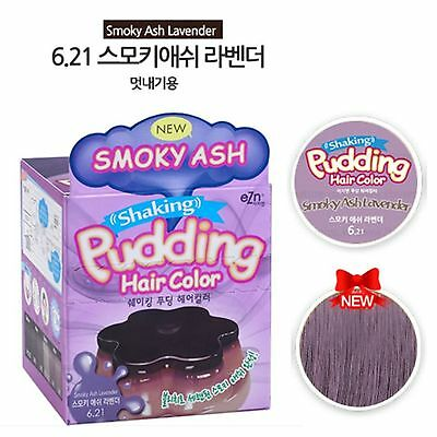 Korea Cosmetic K-Beauty EZN Shaking Pudding Hair Self Dye Smoky Ash Lavender x1