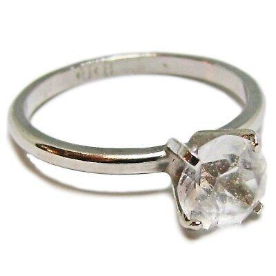 Size 8 Silver Tone Metal Uncas Cubic Zirconia Solitaire Ring Cubic Zirconia Silver Metal
