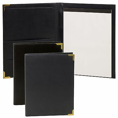 Black A4 Executive Business Conference Folder Portfolio Pu Leather Free Note Pad