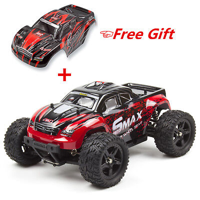REMO 1/16 RC Monster Truck 2.4Ghz 4WD Off-Road Brushed Remote Control Car Red