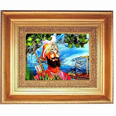 Gold Leaf Frames 10x13in Hindu Guru Gobind Singh #HDL-12-PI-CASSINO# Vintage