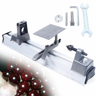 Mini Lathe Machine Diy Woodworking Wood Beads Grinding Cutting Drilling Machine