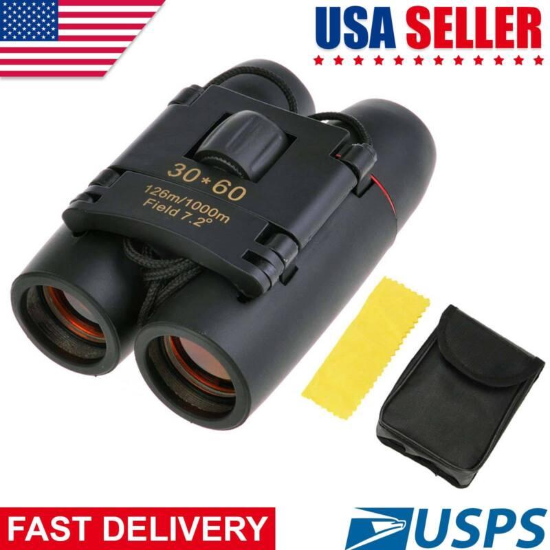 Day Night Vision Binoculars 30X60 Zoom Outdoor Travel Folding Telescope Bag