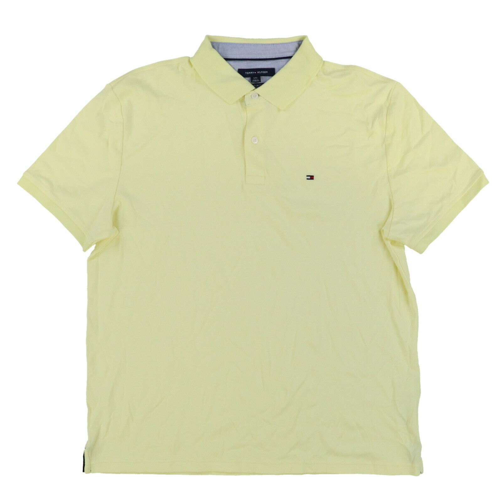 Tommy Hilfiger Mens Polo Shirt Classic Fit Interlock Short Sleeve Flag Logo New
