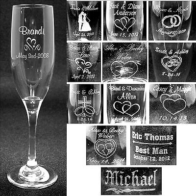 Personalized Toasting Flutes Laser Engraved Wedding Party Gifts Customized  - Engraved Wedding Flutes