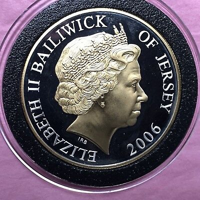 2006 Bailwick of Jersey Gold Gilded 29 Gram Sterling .925 Fine Silver Round Coin