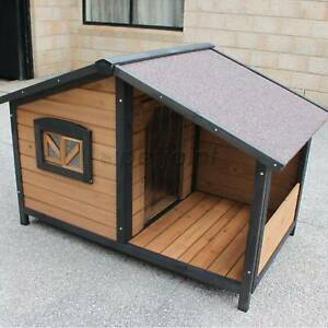 Small Dog Kennel House With Pet Sit Out Balcony Optional Puppy Bowls P