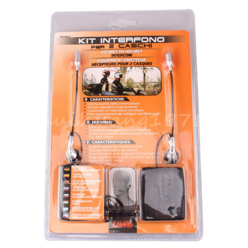2-Way Motorcycle Motorbike Helmet Headset MP3 Interphone Wired Micphone Intercom