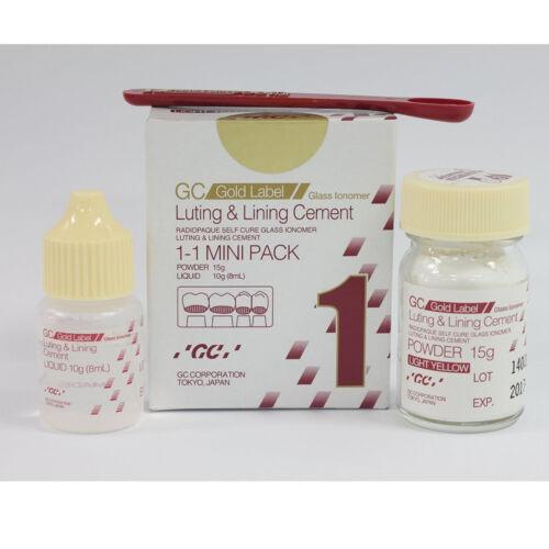 Dental GC Fuji 1 Glass Ionomer Luting & Lining GIC Cement Mini Pack 15g/10g
