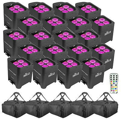 Chauvet Lighting Freedom Par Hex-4 DMX LED Wireless Twenty Pack with CHSFR4 Bag