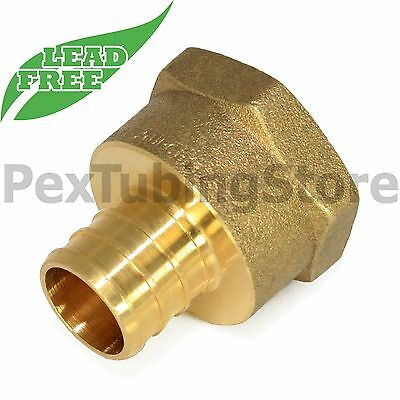10 1 Pex X 1 Female Npt Threaded Adapters - Brass Crimp Fittings Lead-free