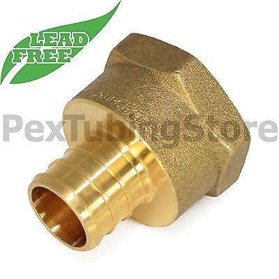 10 1 Pex X 1 Female Npt Threaded Adapters - Brass Crimp Fittings Lead-free