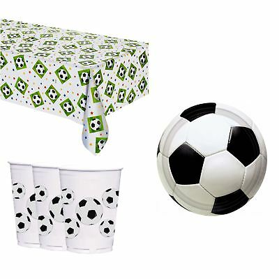 World Cup Football Party Pack Tableware Cups Tablecover Plates Soccer BBQ UEFA