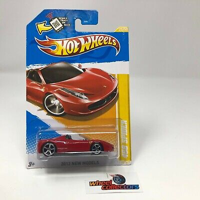 458 Spider Ferrari #25 * RED * 2012 Hot Wheels * JA11