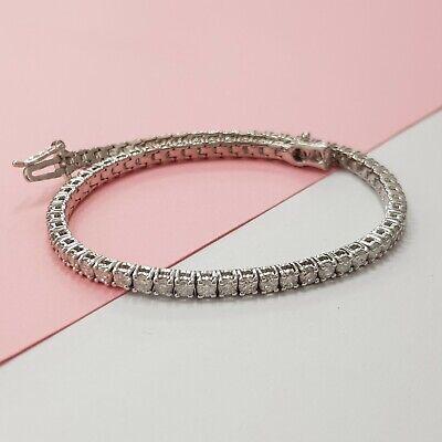 3.00 Carat Diamond Tennis Bracelet 14K White Gold D I1 SUPER BLACK FRIDAY for sale  Shipping to South Africa