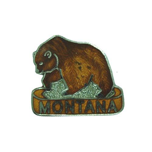 Montana Grizzly Bear Mafco Lapel Souvenir Hat Jacket Pin