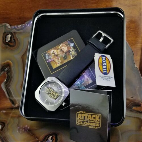 New FOSSIL Star Wars Attack of The Clones Watch in Collectible Tin #380 of 2500
