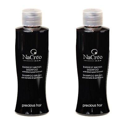 2x Tönungsshampoo schwarz Farbshampoo Haartönung Anti-Grau Farbpflege Haarfarbe (Schwarze Haare, Shampoo)