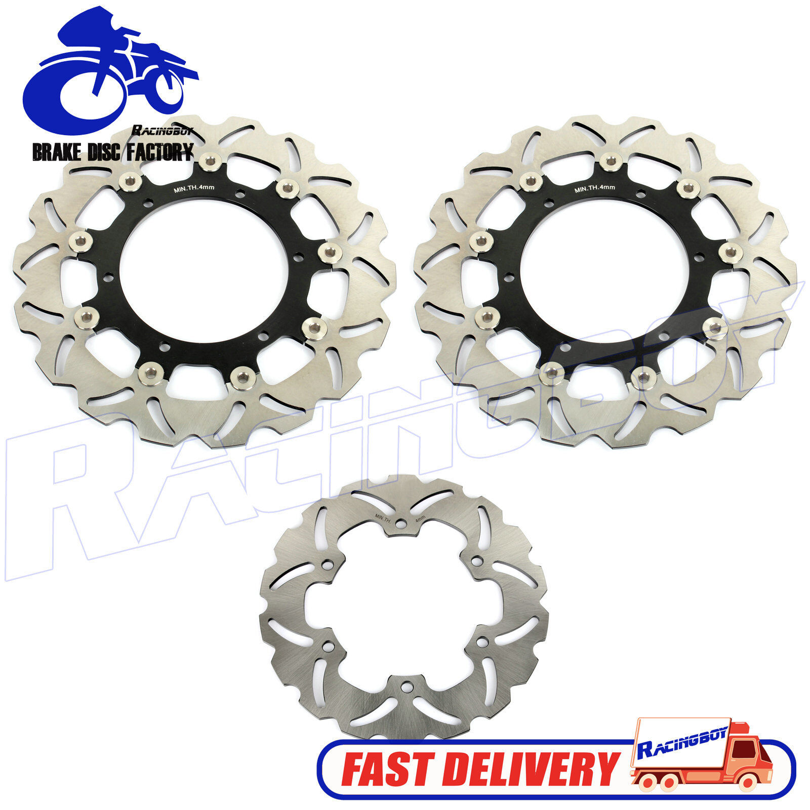 Arashi Front Rear Brake Disc Rotors for YAMAHA YZF R1 1998-2001 Motorcycle Replacement Accessories YZF-R1 1999 2000 Black XJ600S XJ600N