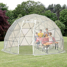 Outsunny Outdoor Garden Dome Igloo Tent Home Greenhouse, Half Transparent